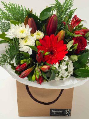 expressions-local-cambridge-hamilton-florist-delivery-vintage-red-flower-box-bouquet