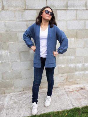 cardigan-shorty-denim-model-fashion-hello-friday-expressions