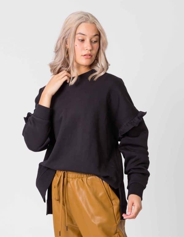 stella-gemma-sweater-ruffle-lexi-black-SGSW8000-expressions-1
