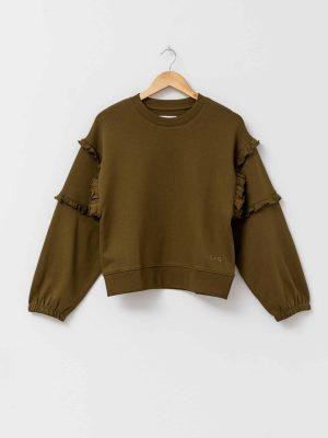stella-gemma-sweater-abi-ruffles-olive-SGSW8009-expressions