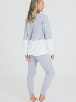 3rd-story-clothing-hailey-sweater-grey-marle-white-1424GMW-expressions-nz-1