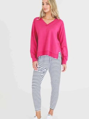 3rd-story-clothing-harmony-sweater-magenta-1278M-expressions-nz