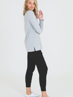 3rd-story-leah-long-sleeve-tee-1466GM-t-shirt-grey-marle-expressions-nz-1