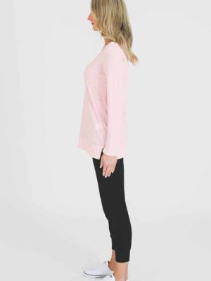 3rd-story-leah-long-sleeve-tee-1466MR-t-shirt-misty-rose-expressions-nz-1