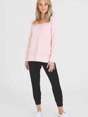3rd-story-leah-long-sleeve-tee-1466MR-t-shirt-misty-rose-expressions-nz