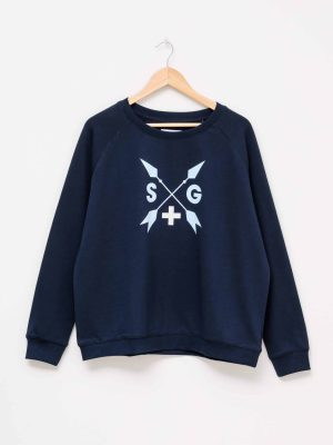 stella-gemma-SGTS3147-clothing-navy-arrows-sweater-expressions