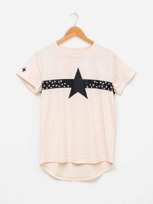stella-gemma-t-shirt-SGTS3169-summer-black-white-spots-star-almond-expressions